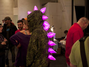 Stegosaurus Dinosaur Costume Spikes - LED Halloween