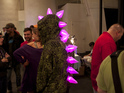 tiger saurus dino godzilla dragon caught in the wild at the makerfaire