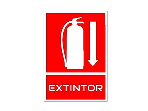 Señalización de extintor