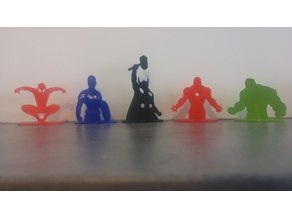 Avengers 2D Figurines