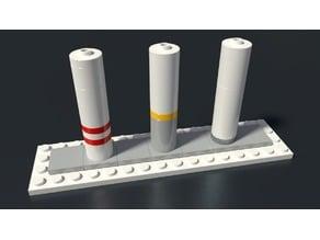 Lego compatible pilars