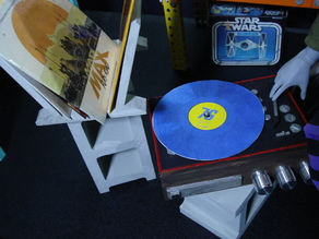 1/3 vinyl record player and albums for ball joint dolls bjd