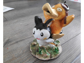 Psyduck/Emolga Miniature