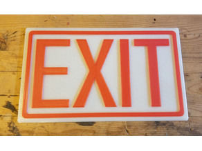 Exit Sign, Glow In the Dark Background