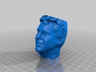 Glenn MakerBot 3D Portrait from Apr 22, 2013