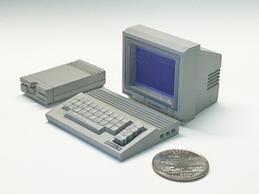 Mini Commore C-64c with 1084 Monitor