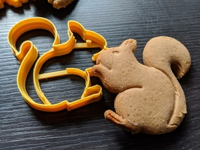 Cookie cutter - Squirrel - Works super easy, great results