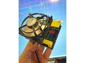 MKS Gen-L mainboard cover for 8cm fan (for Flsun Cube, etc)