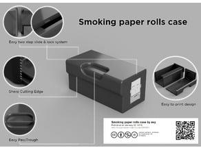 Smoking paper rolls case