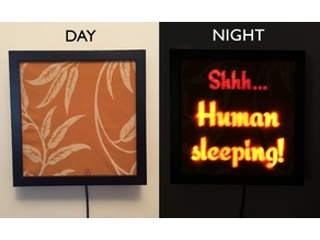 Shhh Human Sleeping - Laser Cut Sign