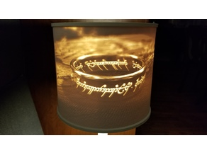 Lithophane Lampshade - Lord of the Rings