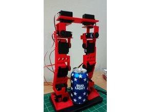 12 DOF Humanoid walking legs Bi-Ped
