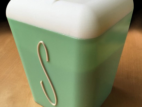 """Gayware"" vintage 1950s kitchen sugar canister"