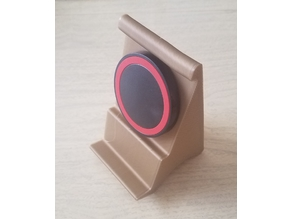 Vase-mode Phone Holder for Round QI Puck