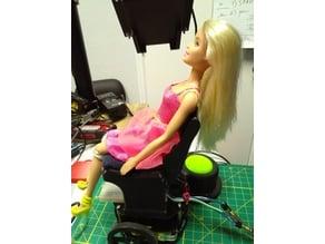 Power Chair for Adafruit Robot Kit (Barbie Sized)