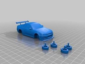 Nissan w/splitter and working wheels