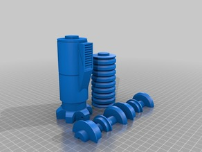 Luke Skywalker Lightsaber: Remix to print in 3 pieces no support for fast churnout