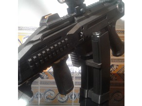 Airsoft ASG CZ Scorpion EVO Clip Magazine and Dual Base Plate