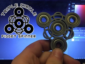 Triple Circle Fidget Spinner