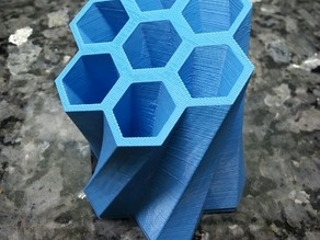 Stationery Holder - Skewed Honey Comb Design