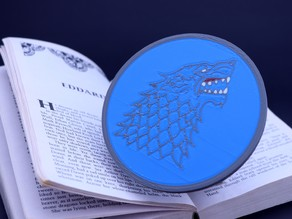 Multi-Color Game of Thrones Coaster - House Stark