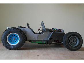 Ossum RC Jeep Rat Rod Rolling Train Kit (with 2 speed gear box)