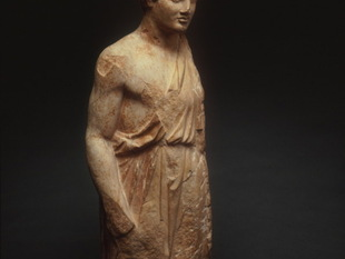 Figure of a Youth from a Funerary Stele (Grave Marker), c. 380 B.C.