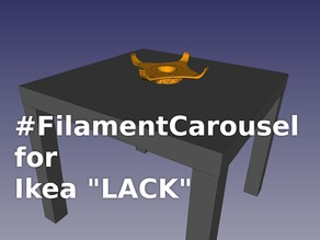 Filament Carousel for IKEA LACK Enclosures