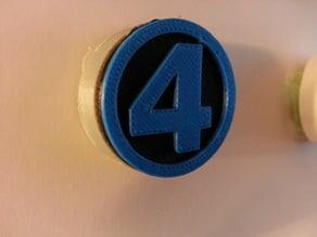 Fantastic Four badge leash cover
