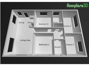 House 3D Floor plan
