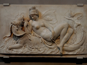 Venus Reclining on a Sea Monster with Cupid and a Putto