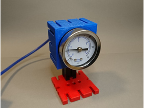 Pneumatic air pressure gauge for fischertechnik