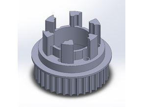 Longboard ABEC 11 Flywheels - Flywheel Clones - MBS All Terrain Wheels - CNC 33T Single Piece Pulley for 9mm, 12mm, 15mm Belts
