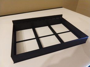 6 panel lithophane box (80mm x 80mm x 2mm each)