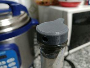 Glass bottle oil dispenser
