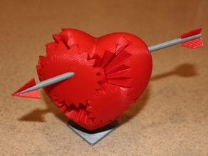 Individual STL and 2 Plate Total Ripoff of one of Emmett's Heart Gears placed to fit on my printer.