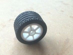 Wheel rim compatible with lego tire
