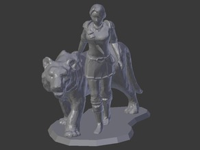 Female Knight with Tiger