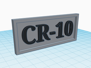 CR-10 Name Plate