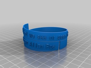 Poe Spiral Poem Bracelet Mark 2