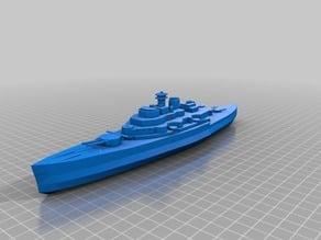 RC warship boat