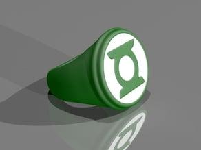 Glow in the dark Green Lantern ring