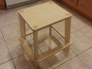 Plywood Stool with Footrest