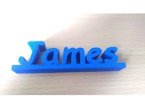 James 3D Nameplate