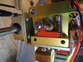 MK8 extruder flexible filament adapter