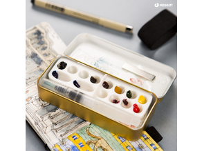Watercolor travel palette & kit idea.