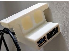 USB + HDMI Bracket for Oculus Rift