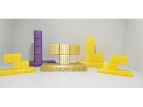 Tetris Trophies (all 7 pieces) - Maximus Cup Tetris 99 - Nintendo Switch