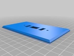 USB/Rocker Light Switch Cover