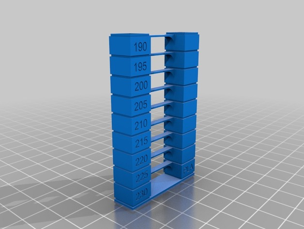 Ender 3 PLA temp tower easy by dowmace - Thingiverse